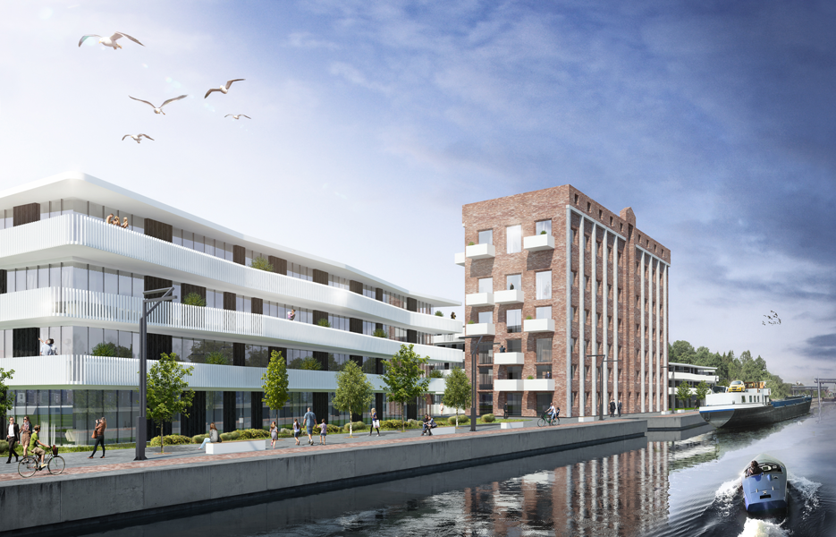 Residential blocks surrounding Flower Mill